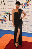 Jennifer Hudson showed some leg in a black dress.