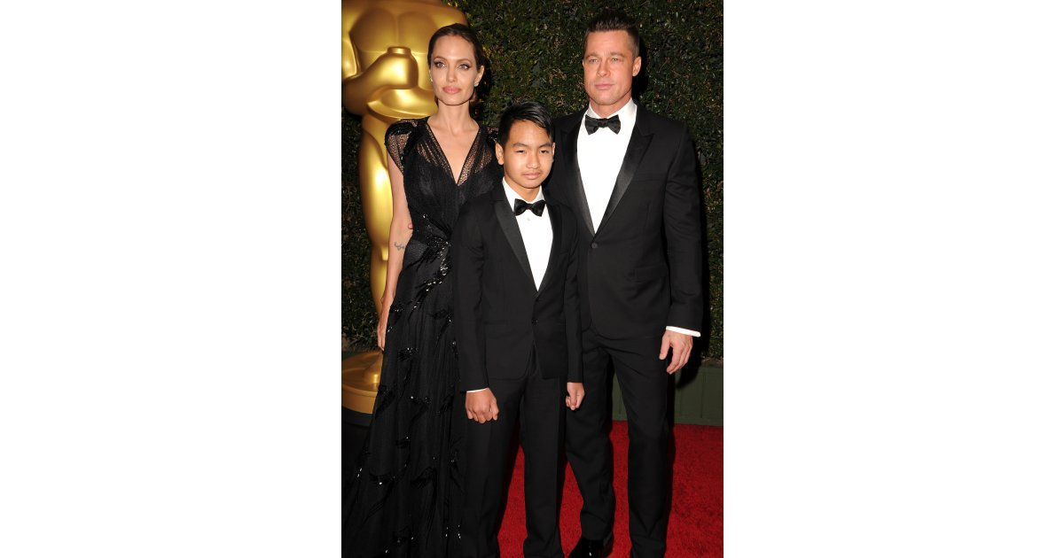 Angelina Jolie adopted her first child, Maddox, from Cambodia in 2002 ...