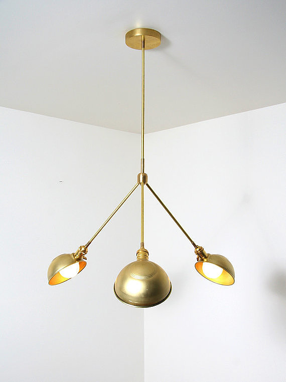 Unlike any lighting fixture we've ever seen, this brass pendant ($950) is an unbelievable Etsy find. Rest assured it will make a statement.