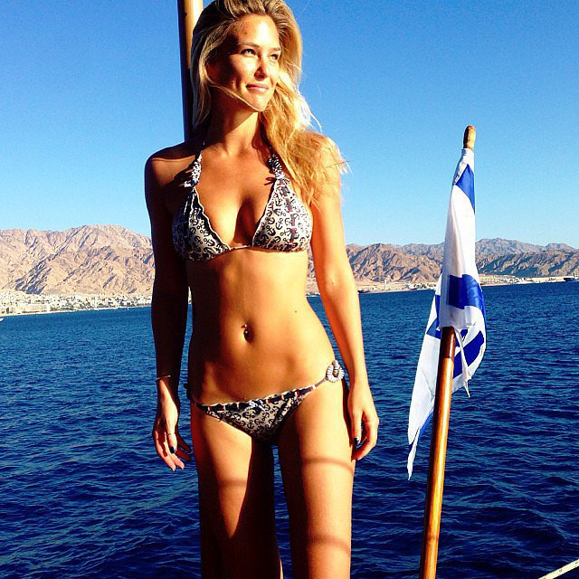 Bar relaxed on a yacht in a sexy two-piece back in October 2013. Source: Instagram user barrefaeli