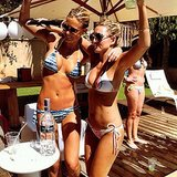 Bar got down in her bikini with a friend at a bachelorette party in October 2013. Source: Instagram user barrefaeli