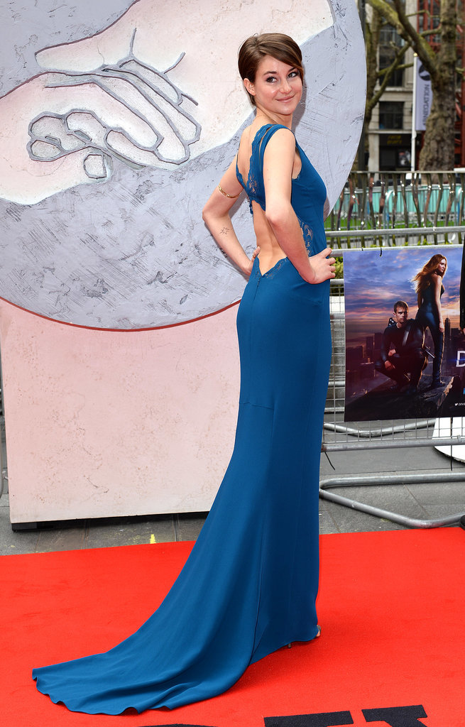 Shailene Woodley in Stella McCartney at the 2014 Divergent European Premiere