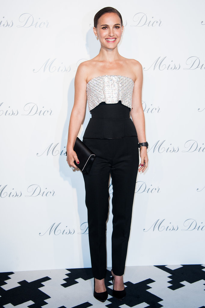Natalie Portman in a Christian Dior Corset at the 2013 Esprit Dior, Miss Dior Exhibition Opening