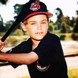 Here's baby Zac Efron playing baseball. Source: Instagram user zacefron