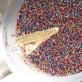 Yellow Birthday Cake With Rainbow Sprinkles Recipe