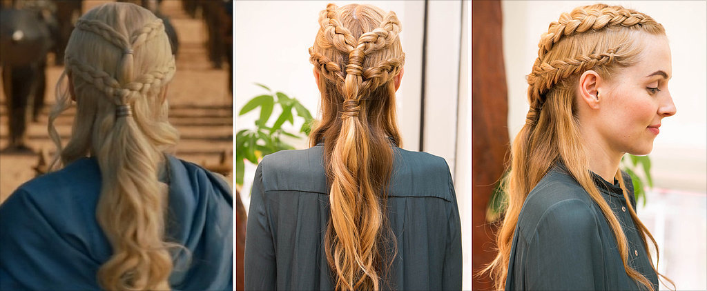 DIY This Insane Daenerys-esque, 2-Tiered Braid