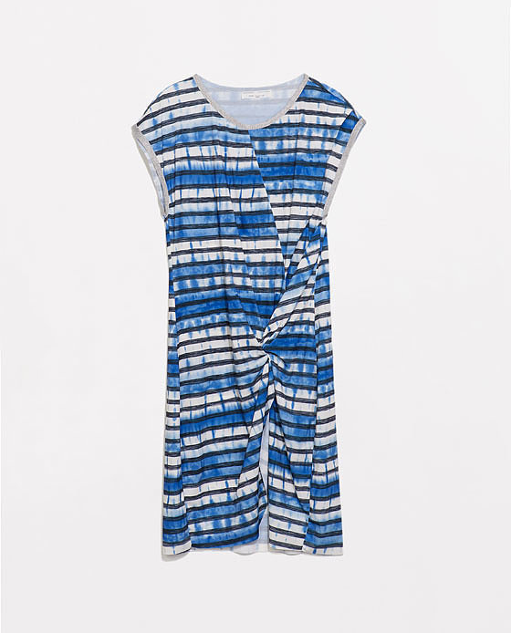 Zara Printed Gather Dress ($60)