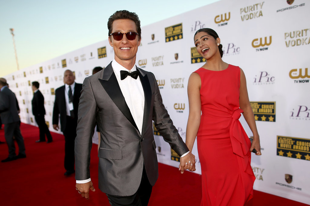 They were all smiles on the red carpet at the 2014 Critics' Choice Movie Awards in LA.