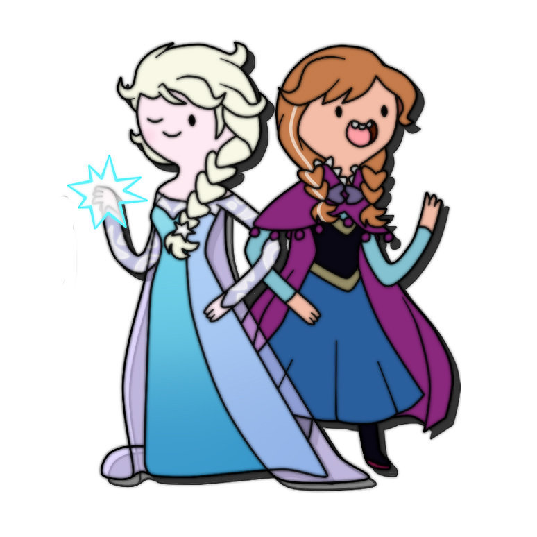 Adventure Time Elsa and Anna