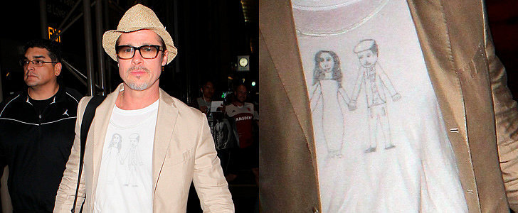 Did Brad Pitt's Kids Make Him This Adorable T-Shirt?