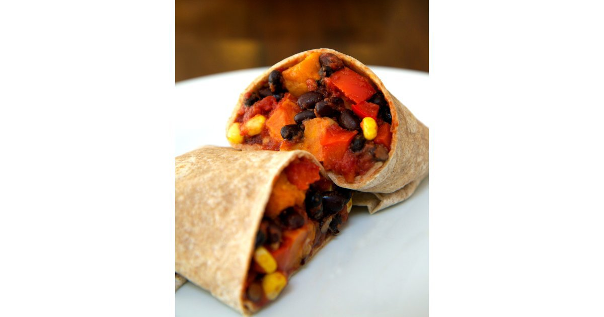Sweet Potato Black Bean Burrito | POPSUGAR Fitness