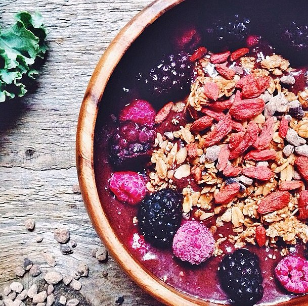 Have a sweet tooth? Try topping your morning bowl with a sprinkle of cacao nibs. Source: Instagram user breakfastcriminals