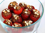 Chocolate Almond Quinoa Stuffed Strawberries