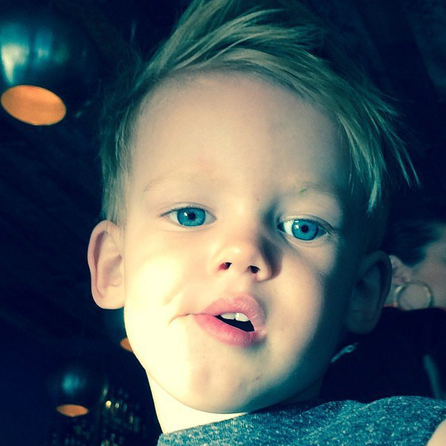 Hilary Duff showed off her adorable son, Luca Comrie. Source: Instagram user hilaryduff