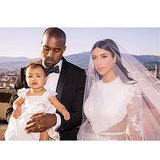 Kim Kardashian shared a sweet wedding photo of her family at her wedding to Kanye West. Source: Instagram user kimkardashian