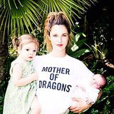 Drew Barrymore showed off her adorable girls — Olive and Frankie  — and her love for Game of Thrones. Source: Instagram user drewbarrymore