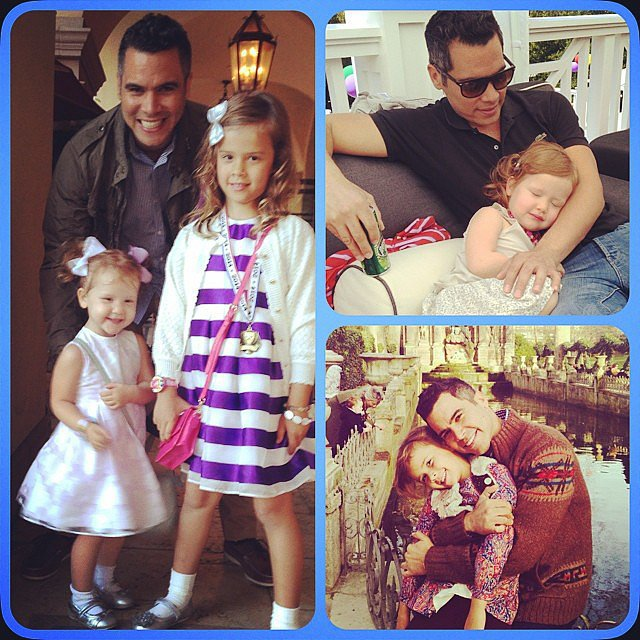 "Jessica Alba put together a photo collage of some daddy-daughter moments with Cash, Honor, and Haven Warren from the past year, saying, ""#HappyFathersDay @cash_warren! Our girls r so lucky ur their daddy! Xo"" Source: Instagram user jessicaalba"
