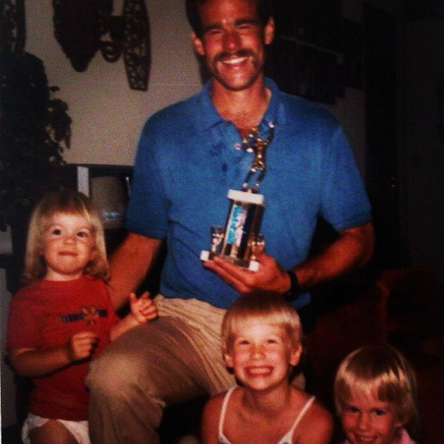 "January Jones paid tribute to the ""best guy I know"" with a flashback family moment.  Source: Instagram user januaryjones"