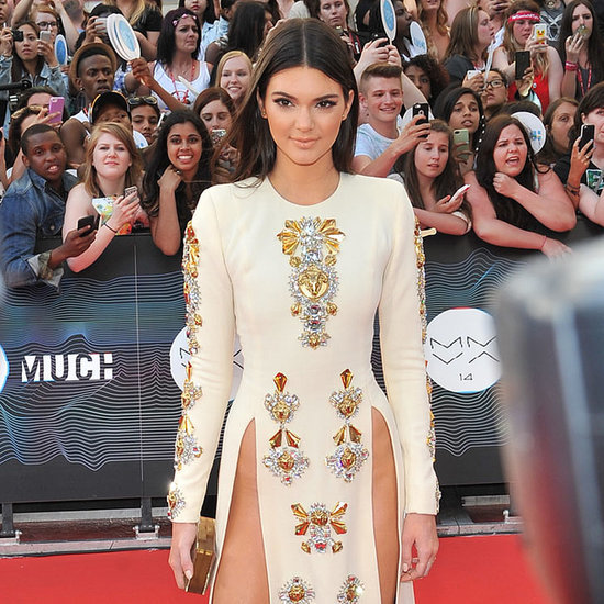 Kendall Jenner in Fausto Puglisi Thigh Split Dress