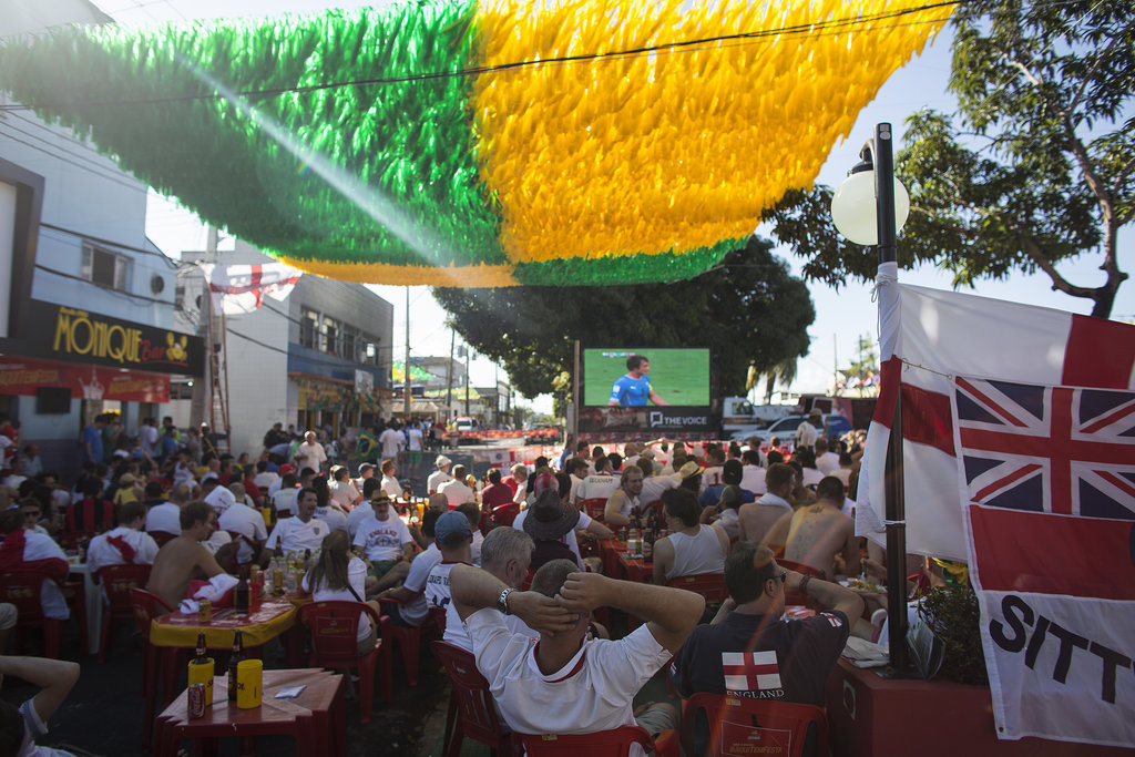 Fans gathered for a viewing party in Manaus, Brazil.
