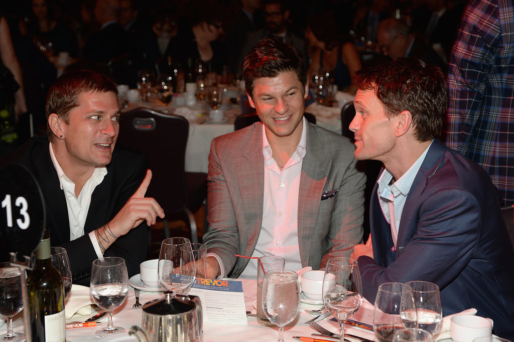 Singer Rob Thomas joked around with Neil Patrick Harris and his fiancé, David Burtka.