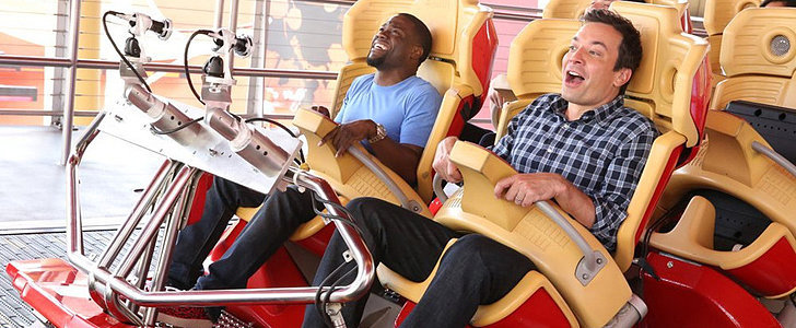 Watch Jimmy Fallon Force Kevin Hart to Confront His Roller Coaster Fears