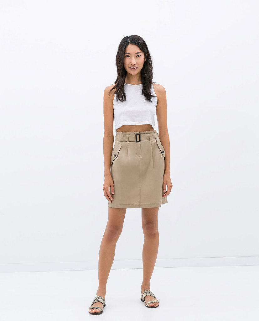 Zara Paper-Bag Waist Skirt