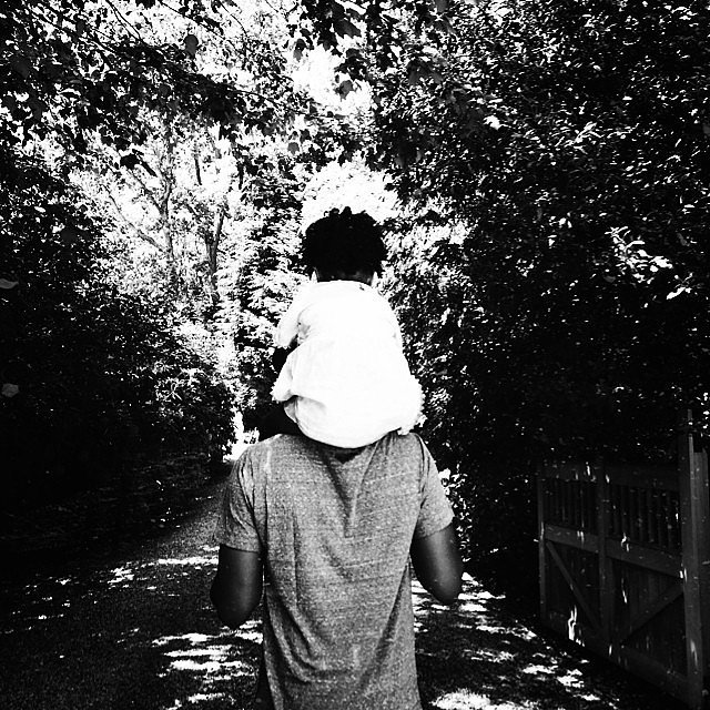 Blue Ivy rode on Jay Z's shoulders on Father's Day. Aww! Source: Instagram user beyonce