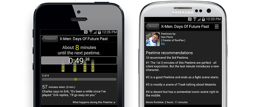 The Best Time to Go Pee During a Movie? This App Tells You