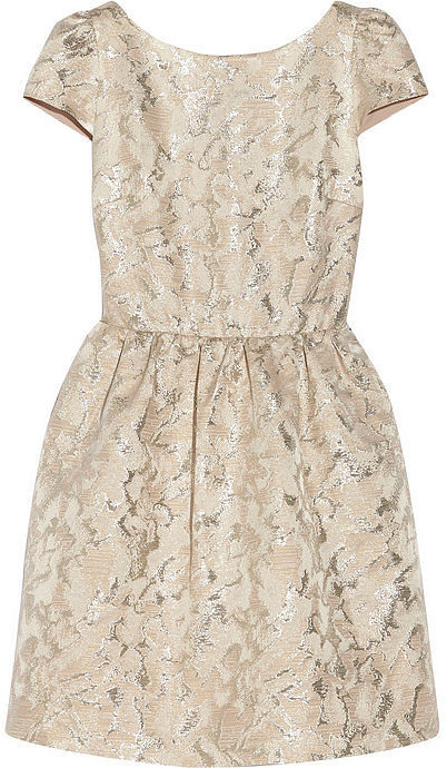 Alice + Olivia Metallic Jacquard Dress