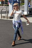 Reese Witherspoon in Nashville Tee and Gold Sign Jeans