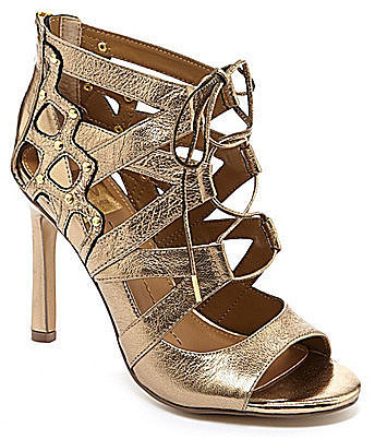 Dolce Vita Gold Lace-Up Sandals