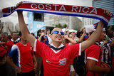 Costa Rican fans celebrated the team's win against Italy in Brazil.