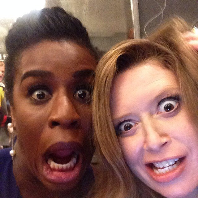 """Another day at the office with @nlyonne #oitnb,"" Uzo Aduba captioned this picture with her Orange Is the New Black costar Natasha Lyonne.  Source: Instagram user uzoaduba"