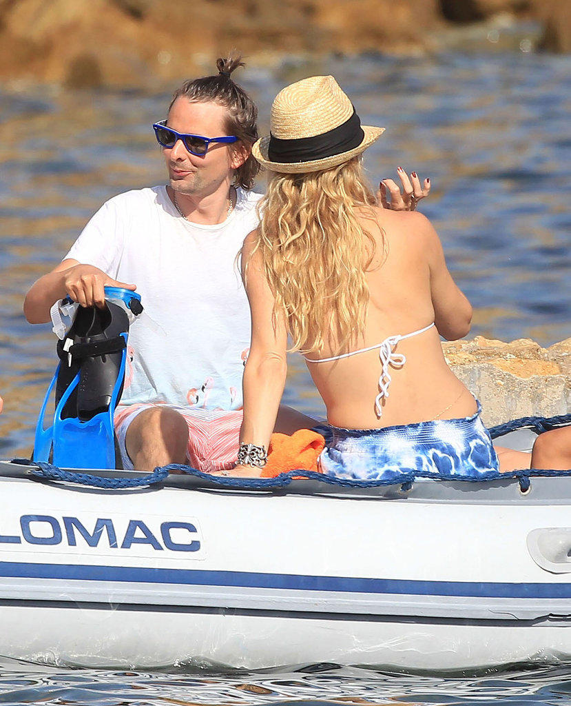 Kate Hudson Gets a Sexy Bikini Kiss From Matthew Bellamy