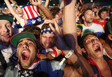 US fans went wild watching the game against Portugal in Brazil.