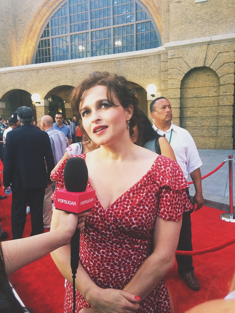 Helena Bonham Carter is a goddess, and she was radiant as always on the red carpet. She is much nicer (thankfully) than her evil onscreen counterpart Bellatrix Lestrange. Her family (not pictured) was also with her at the event, including partner Tim Burton.