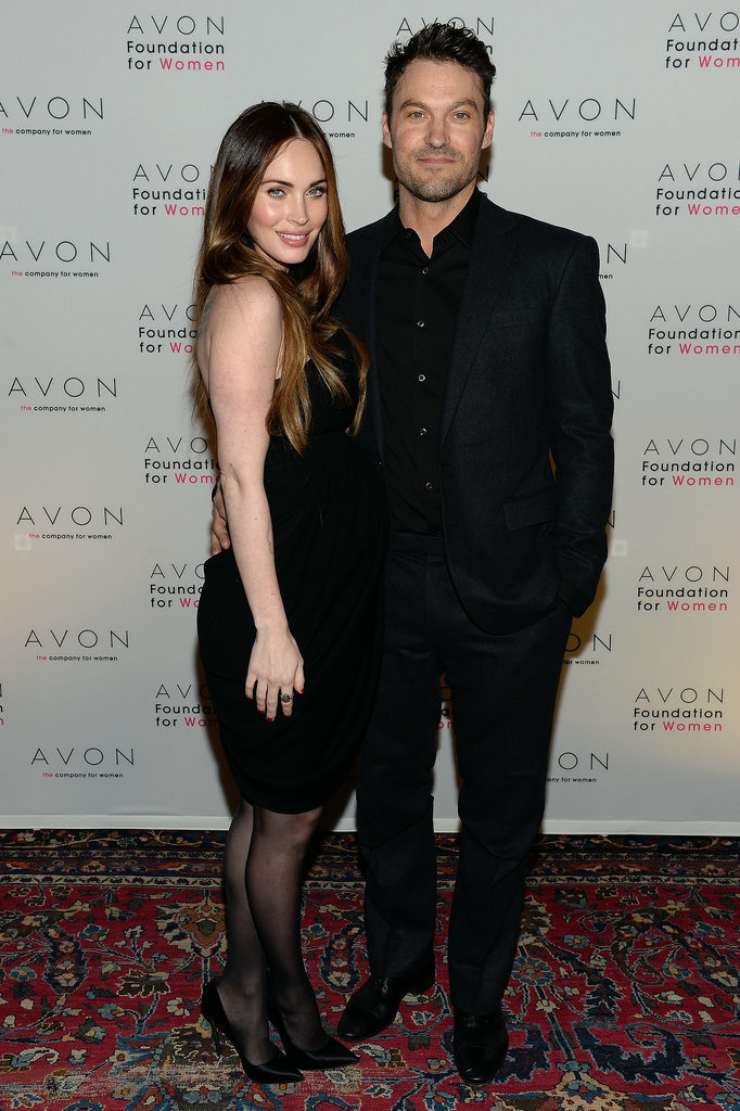 They matched in black ensembles for an Avon charity event in November 2013.