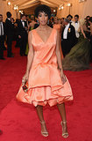 Solange's much buzzed-about evening at the Met Gala began in a 3.1 Phillip Lim dress.