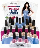 "Kim's Kardashian Kolor ads featured the headline ""Wel-Kim to My World."""