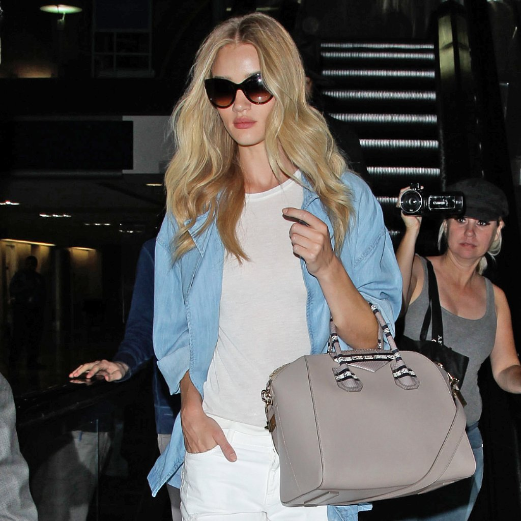 Rosie Huntington-Whiteley Denim-on-Denim Outfit