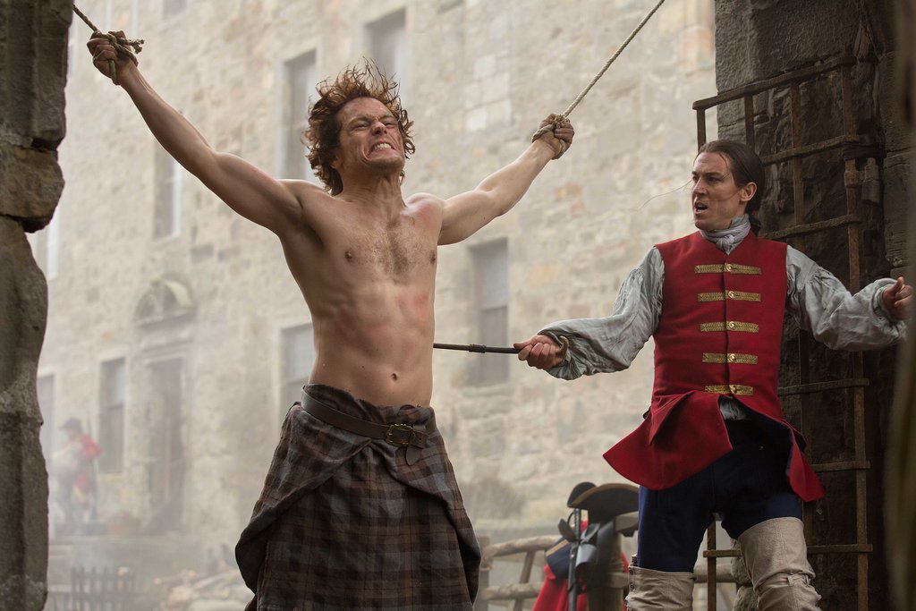 Jack and Jamie come to blows. Courtesy of Starz