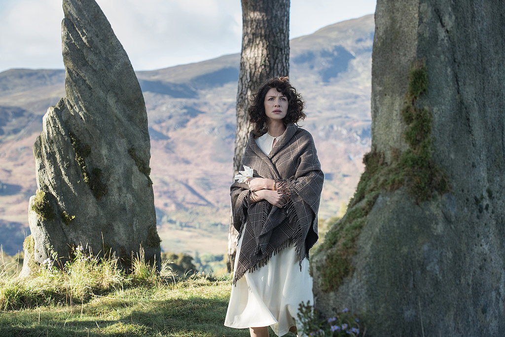 Claire walks among the standing stones. Courtesy of Starz