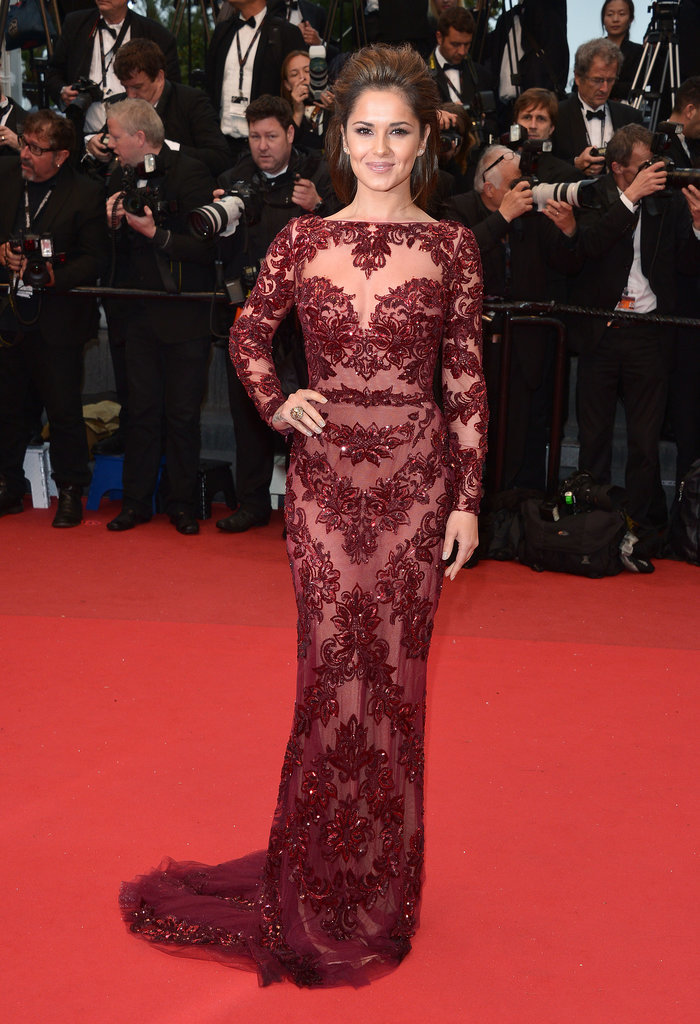At the 2013 Cannes Film Festival, Cheryl stunned in a burgundy lace Zuhair Murad dress.