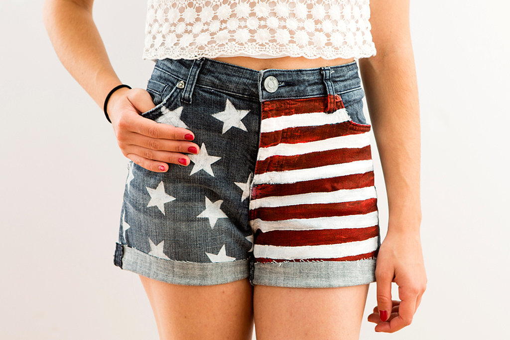 American Flag Cutoffs