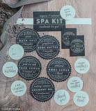 Spa Kit Wedding Favor Labels
