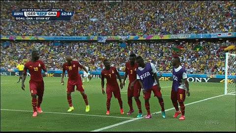 The Ghana Team's Synchronized Trot