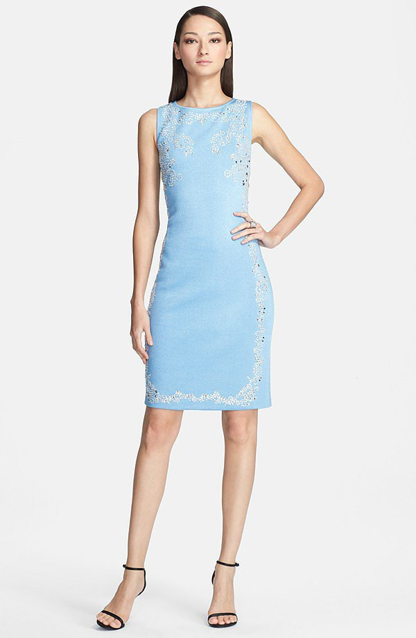 St. John Collection Embellished Knit Dress