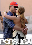 The two shared a romantic moment while sightseeing in Rome in July 2010.