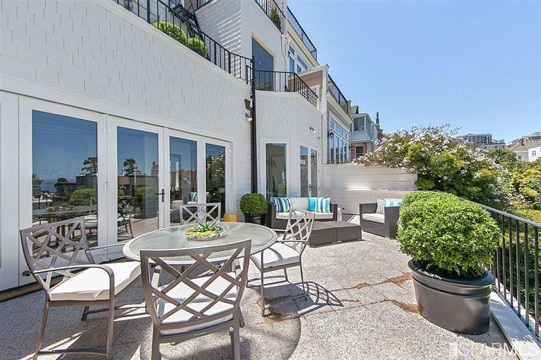 This large terrace looks like the perfect place to enjoy Sunday brunch.  Source: Coldwell Banker